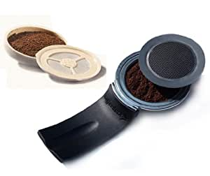 Coffeeduck and Ecopad Bundle For Senseo Classic - Permanent Refillable Coffee Filter for the Senseo models HD7810-HD7819 - Create your own custom strength and Flavor by Ecopad