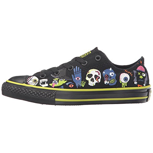 Converse Kids Chuck Taylor All Star OX (Little Big) Black/bold Lime/black