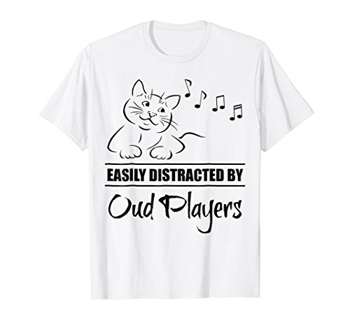 Curious Cat Easily Distracted by Oud Players T-Shirt