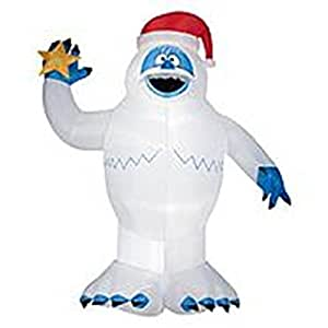 Gemmy inflatable bumble holding star for Abominable snowman lawn decoration