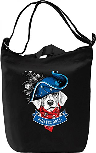Pirate Dog Borsa Giornaliera Canvas Canvas Day Bag| 100% Premium Cotton Canvas| DTG Printing|
