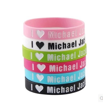 Michael Jackson Party Supplies (GoodBZ 6pcs I Love Michael Jackson Silicone Wristbands Bracelets,1D Wristbands)