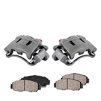 CCK11494 [2] FRONT Premium Loaded OE Remanufactured Caliper Assembly Set + Quiet Low Dust Ceramic Brake Pads: Automotive