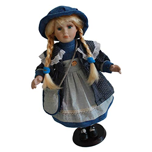 16inch Vintage Porcelain Doll in Costumes, Creative Valentin Gift for Girlfriend, Dollhouse People Display Decor Collection