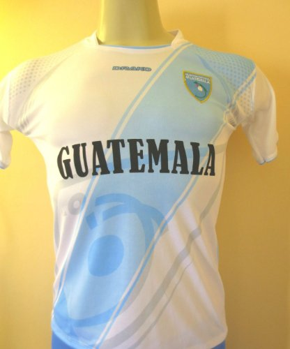 DRAKO INC Childrens Unisex Girls Boys Teens Guatemala Soccer Jersey Size 12-14 (Label Reads ONE Size) Please See MEASURMENTS ON Listing to Verify FIT