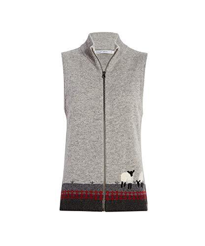 Woolrich Women's Grazing Sheep Lambswool Sweater Vest, GRAY HEATHER (Gray), Size S