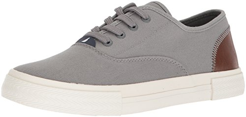 Nautica Men's Deckstyle Sneaker Grey Canvas pay with paypal sale online free shipping how much cheap sale clearance vA5V3IAbT