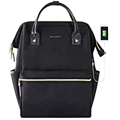 """【Specifications】 Item Dimensions: 16.9"""" x 11.15"""" x 7.5"""" (42.9 x 28.3 x 19.1 cm)  Weight: 1.82 LBS (0.83 kg)【High quality Laptop Backpack】 Constructed of water-repellent material to ensure your laptop and documents stay dry during light rain o..."""