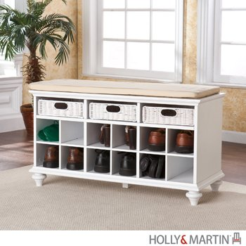 Holly & Martin MacKenzie Entryway Bench-White