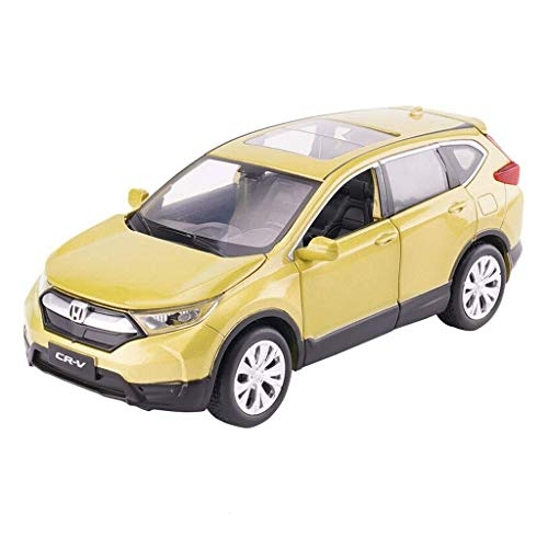 Price comparison product image XINGXIANYIGOU Automotive Die-Casting Model,  1:32 Ratio Hon01da CRV for Home Decoration,  High Detail Made of Alloy,  Door Can be Opened (Color : Yellow,  Size : 14.565.5CM)