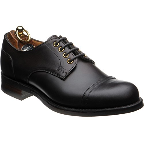 Herring Burghley Rubber-Soled Derby Shoes in Brown Waxy (Waxy Calf Footwear)