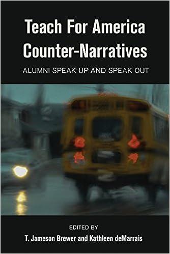 Teach For America Counter-Narratives: Alumni Speak Up and Speak ...