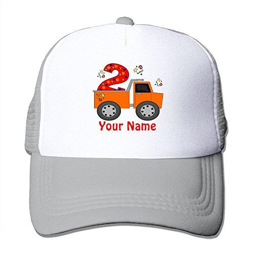 AKQQ0XXA Custom Classic Unisex 2nd Birthday Dump Truck Personalized Fishing Caps Ash ()
