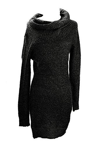 UPC 887430397494, Bar III Womens Metallic Ribbed Trim Sweaterdress Black S
