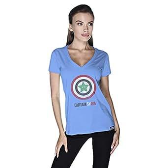 Creo Captain Syria T-Shirt For Women - S, Blue