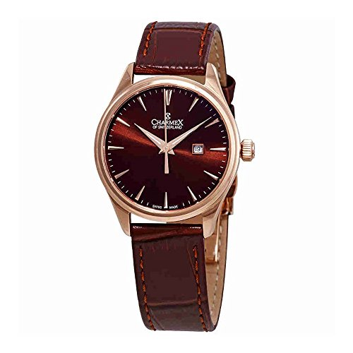 Charmex Tobacco Dial Brown Leather Ladies Watch 6383
