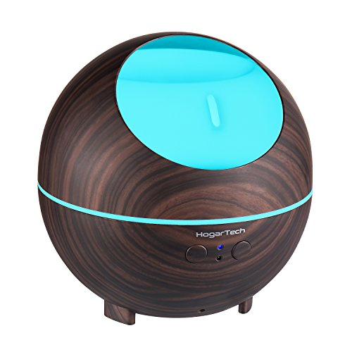 HogarTech 880ml Ultrasonic Oil Diffuser, High Capacity Diffuser, Wood Grain Cool Mist Humidifier for Office Home Study Yoga Spa by HogarTech