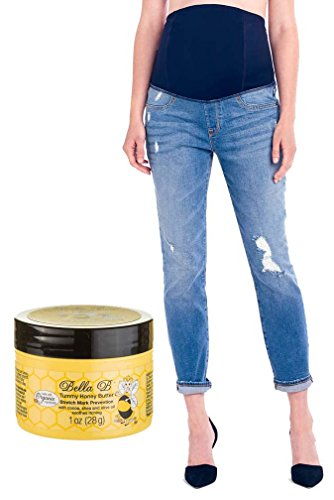 Bundle 2 Item Ingrid Isabel Mia Maternity Jeans 27 + Tummy Honey Butter 1 oz by Ingrid & Isabel