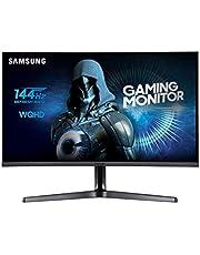 Samsung C27JG52 Monitor WQHD, 2K da Gaming Curvo da 27'', Base a Doppio Snodo, 2560 x 1440, 1800R, 4 ms, 144 Hz, 2 HDMI, 1 Display Port, Nero