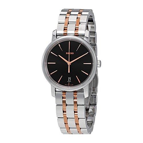 Rado Diamaster M Black Dial Two-Tone SS Quartz Men's Watch R14089163