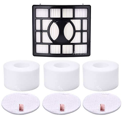3 Pack Filters for Shark Rotator Powered Lift-Away Speed&DuoClean Vacuum Cleaner NV680, NV681, NV682, NV683, NV800, NV800W, NV801, NV803, UV810 Replaces Part # XHF680 & XFF680 By Artraise (Shark Ionflex 2x Best Price)