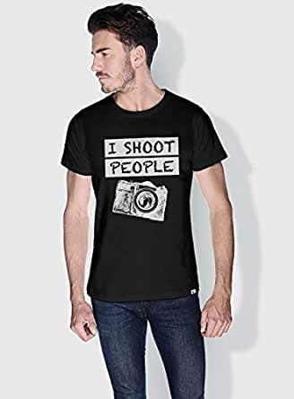 Creo I Shoot People Funny T-Shirts For Men - L, Black