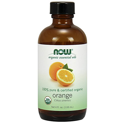 Now Solutions Organic Orange Essential Oil, 4-Ounce