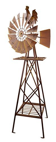 Red Carpet Studios 5-Foot Rustic Windmill, Rooster]()
