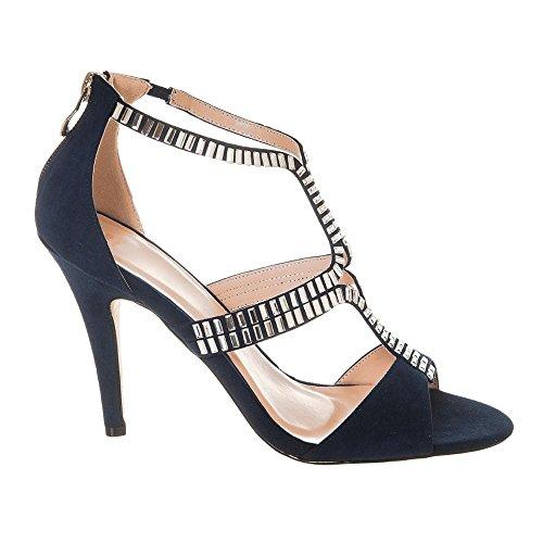 Marino Azul Con Tacón Zapatos Mujer Miss Diva wnSgq11Y