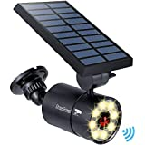 Solar Motion Sensor Lights Outdoor Aluminum,1400LM Warm White LED Spotlight 9-Watt(130W Equ.) Solar Security Lights for…