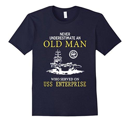 Uss Enterprise Navy - Men's USS ENTERPRISE CVN-65 TSHIRT 2XL Navy