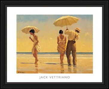 "Jack Vettriano /""In Thoughts of You/""  60x80 Art Print"
