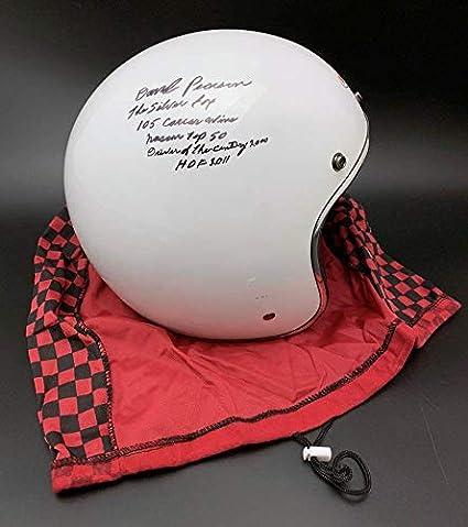 9906ecf4b73 Amazon.com  David Pearson SIGNED Bell FULL SIZE Helmet + STATS ...