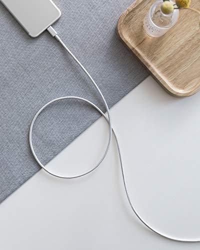 iPad und weitere Schwarz Apple MFi Zertifiziert f/ür iPhone XS//XS Max//XR//X//8//8 Plus//7//7 Plus//6//6 Plus//5s Anker iPhone Kabel 1.8m doppelt geflochtenes Premium Nylon Lightning Kabel,
