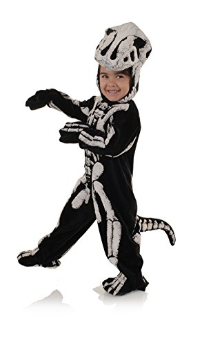 Underwraps Big Boy's Children's Fossil Dinosaur Costume - T-REX, XL Childrens Costume, Black/White, -