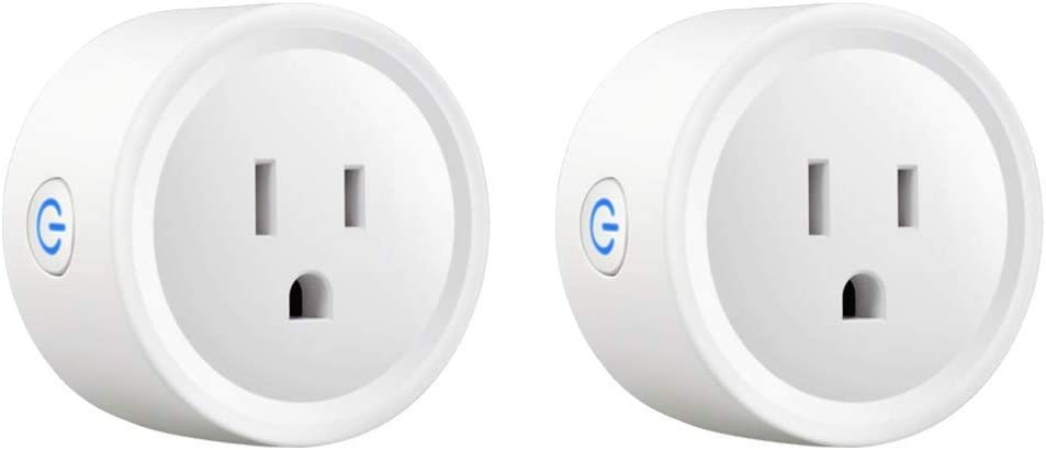 Newxton Smart Plug, with Energy Monitoring, Mini WiFi Outlet Compatible with Alexa, Google Home, No Hub Required, Remote Control Your Home Appliances from Anywhere(2Packs) (2 Pack)