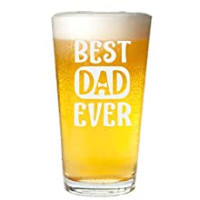 Veracco Best Dad Ever Bowtie Beer Glass Pint Funny BirthdayGift Fathers Day For Dad Grandpa Stepdad (Beer Glass)