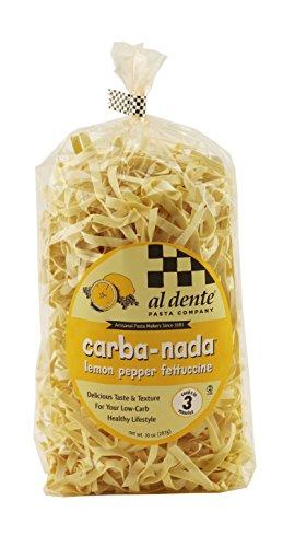 Al Dente Carba-Nada Lemon Pepper Fettuccine, 10-Ounce Bag (Pack of 6)