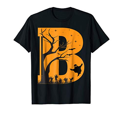 Letter B Halloween Costume Group Shirts -