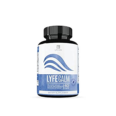 Calming Supplements by Lyfe Labs, Anti Anxiety Relief Supplements with St. John's Wort, Chamomile and Ashwagandha, Improve Mood, Supports Stress Relief, Supports Ability to Focus, 60 Capsules
