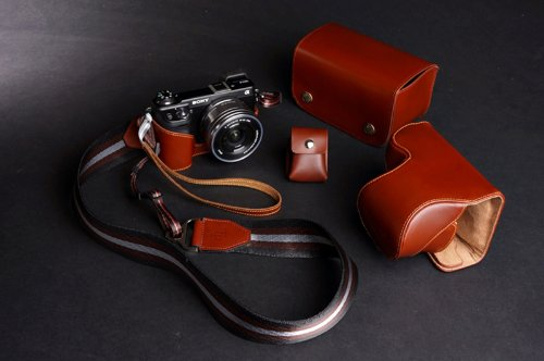 Handmade Genunie real Leather Full Camera Case and other 4