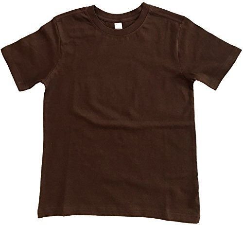 Earth Elements Big Kid's (Youth) Short Sleeve T-Shirt Medium - Kids Brown Big Chocolate Apparel