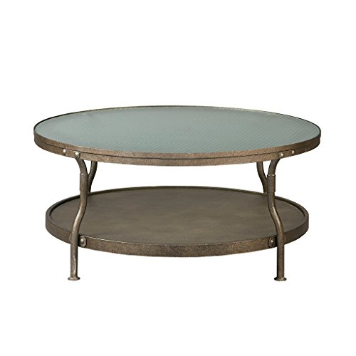 Cambridge Round Coffee Table Hammered Antique Silver See ()