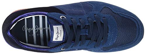 Femme Pepe 2 Jeans Bleu Sequins Sneakers Verona Basses W 465 New Purpleberry waOwTq7