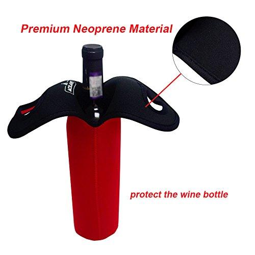 Acelane Flaschenträger Bottlebag Halter und Träger Tasche mit Wärmeschutz für Champagnerflaschen - Set aus 2 für 2 Pints / 750 ml auf 1 l Standardflaschen Neopren (PURECOLOR) Purecolor