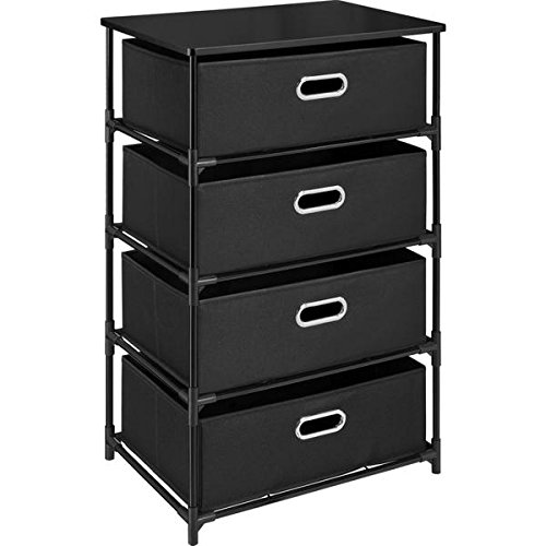 Ameriwood Home Sidney Black 4-drawer Storage End Table by Ameriwood Home