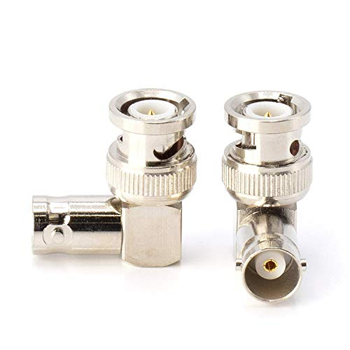 THE CIMPLE CO - Right Angle BNC Connector | BNC Elbow Male Female Adapter / 90 Degree Coaxial Connector /, Well Built, Professional Quality | HD SDI - 4 Pack