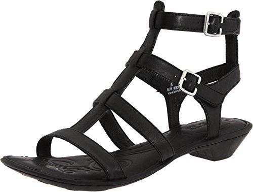 Born Women's Bragg Black Full-Grain Leather Sandal