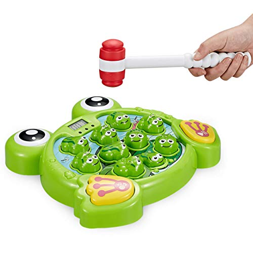 Think Gizmos Interactive Whack A Frog TG702 - Fun Gift for Boys & Girls of Age 3 4 5 6 7 8 (Best Games For Five Year Olds)