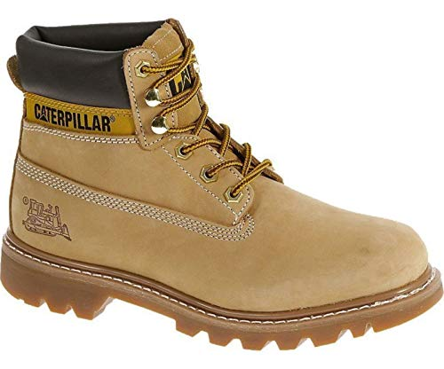 - Caterpillar Colorado Mens Honey Tan Suede Leather Upper Lace Up Ankle Boots 43